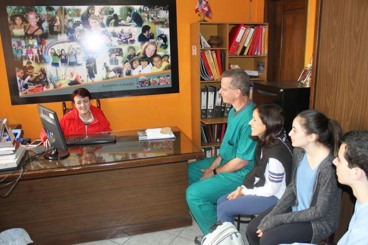 Volunteers Family Gibboney Arrival and first day program Ecuador Quito. Dental and orphanage program. Terence Joseph Gibboney   Gian Gabriel Gibboney  Mia Valeria Gibboney Chiara Isabella GIbboney Lourdes Santos