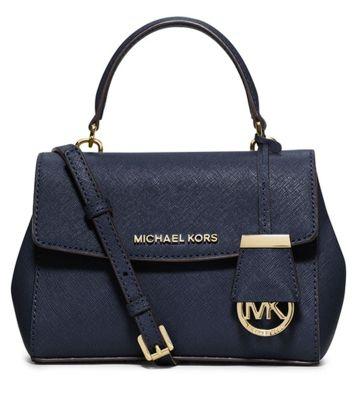 Michael Kors Ava Saffiano Leather Crossbody Satchel