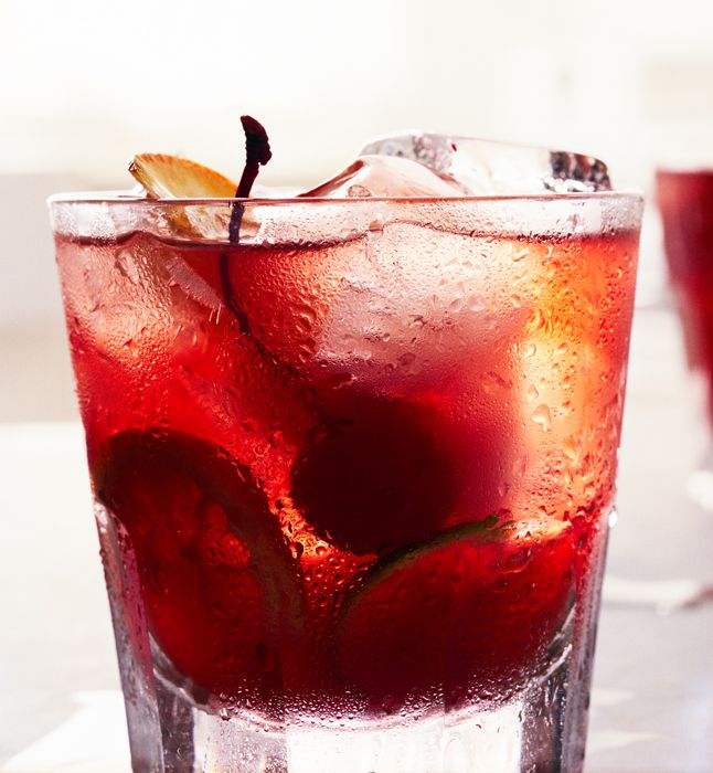 Bill Heck's Old Fashioned : This cocktail is a fruitier, spritzy, almost punchlike take on the usual Old Fashioned.