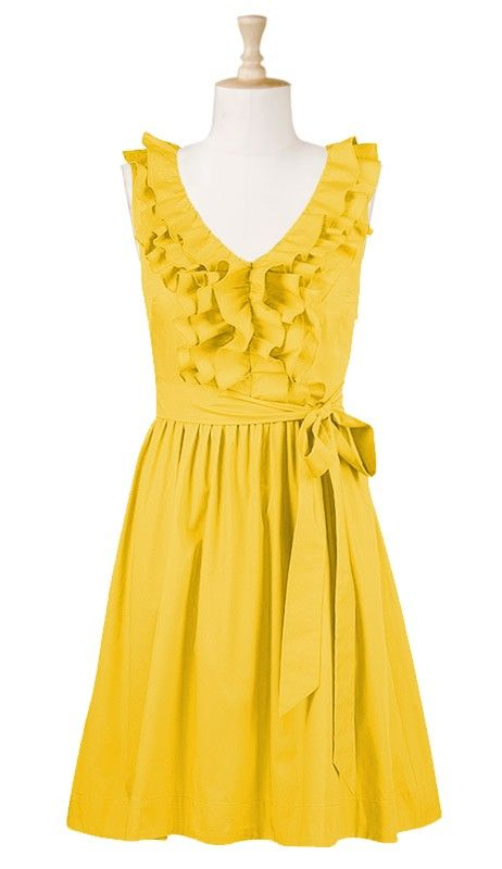 Sunshine! wish i could wear yellow... but love the style!