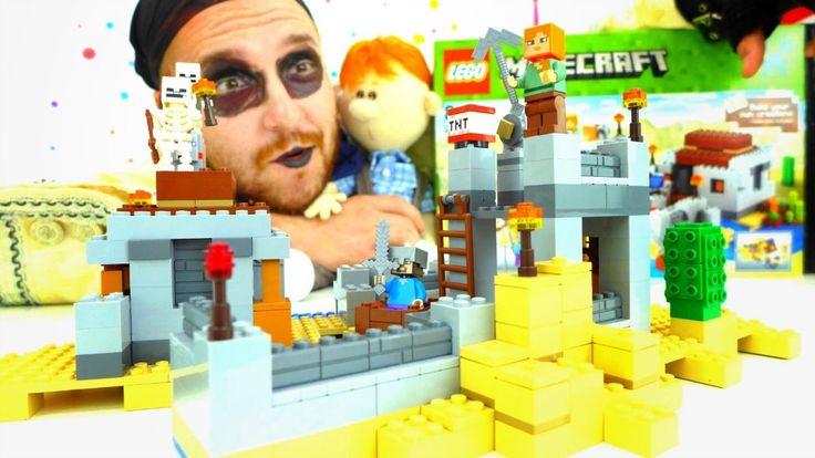 Строим замок LEGO Minecraft (Майнкрафт) вместе с Пиратом Флинтом! Видео ...