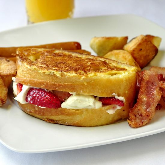 Looking for an indulgent Sunday Brunch idea? How about Strawberry Cointreau Cream Cheese Stuffed French Toast?: Sunday Brunch, Brunches Ideas, Newfoundland Kitchens, Strawberries Cointreau, Stuffed French Toast, Food Photos, Cointreau Cream, Cheese Stuffed, Cream Cheeses
