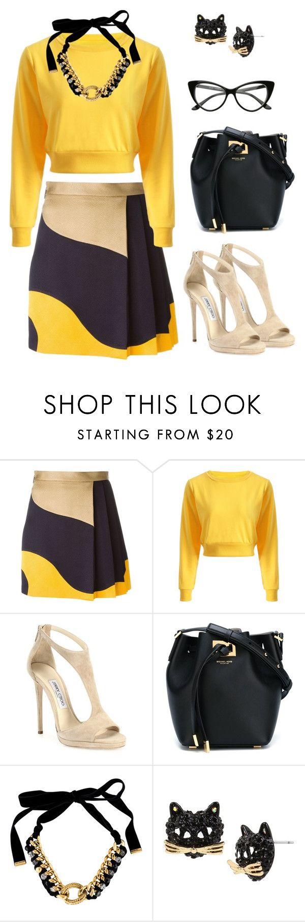 """""""Everlasting"""" by miss-shan-nicole ❤ liked on Polyvore featuring MSGM, Jimmy Choo, Michael Kors, Yves Saint Laurent and Betsey Johnson"""