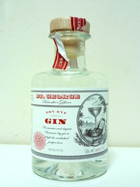 St. George's Dry Rye Gin. Notice how this is not a picture perfect, off-the-line bottle. I've loved this gin. Torn open with the excitement of getting at what is inside.