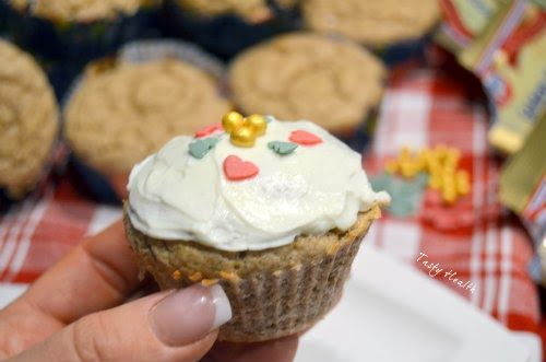 Tasty Health: Pepparkaksprotein muffins med cream cheese frosting