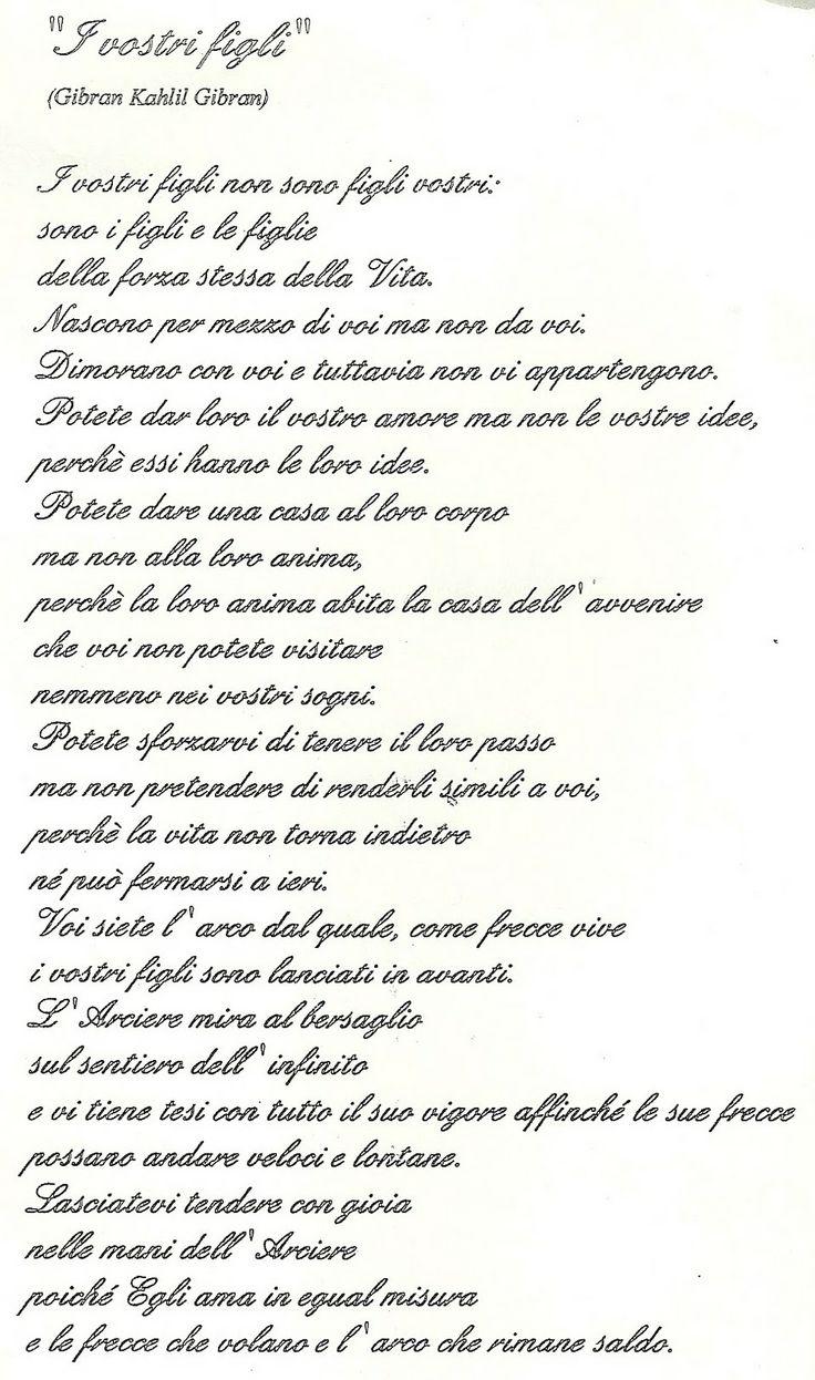 I vostri figli - Kahlil Gibran