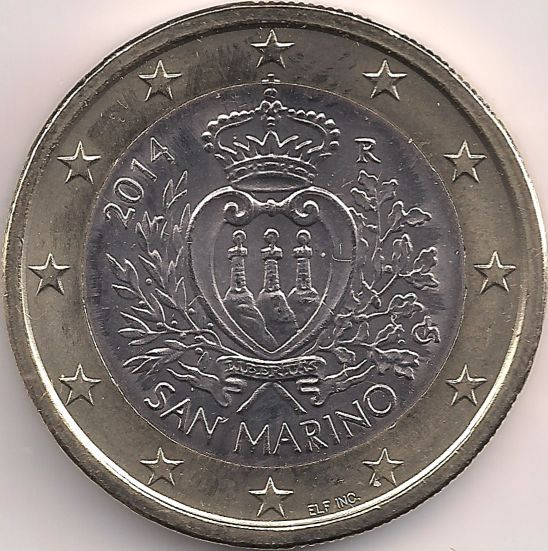 Motivseite: Münze-Europa-Südeuropa-San Marino-Euro-1.00-2008-2015