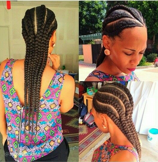 Grosses nattes coll es id es coiffure afro pinterest - Nattes collees modeles ...