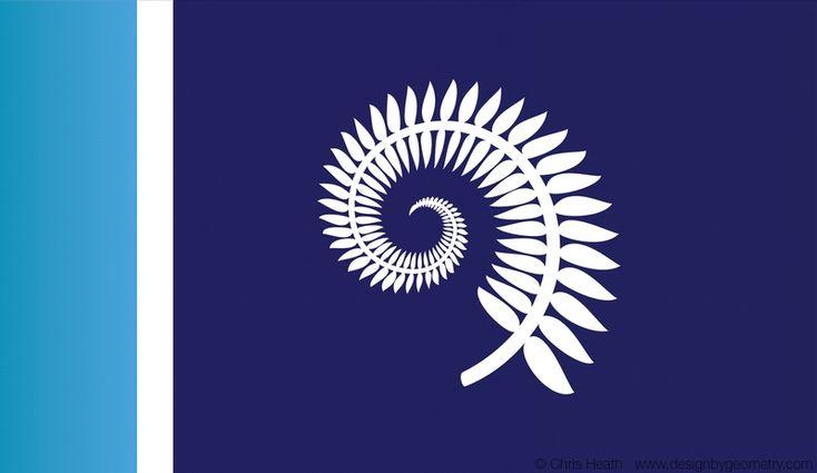 Silver Fern Koru Flag Design, July 2015, flags, NZ, New Zealand. #nzflag #flags #NZ