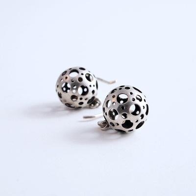 Liisa Vitali ladybird earrings. Finland, c. 1971.