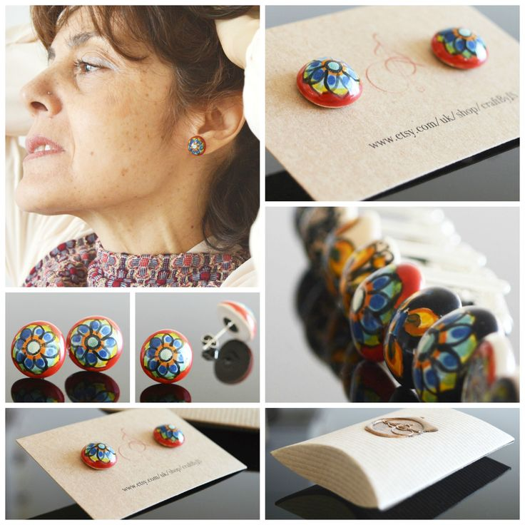 Ceramic earrings are not something you may have come across but they really work! The vivid colours and glossy texture will add some class and a little quirky touch to your attire.