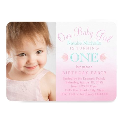 121 best Girls 1st Birthday Party Invitations images on Pinterest