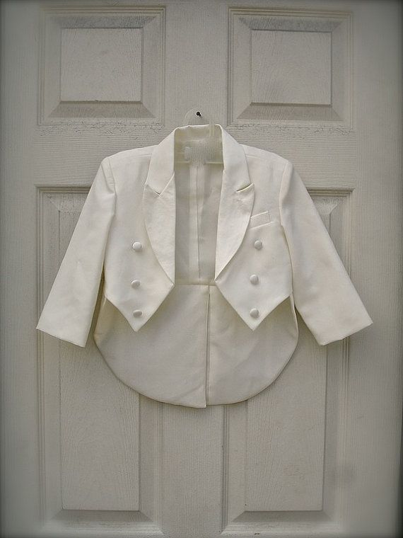 Vintage little boys ivory tuxedo tails with Pants by allfortheboys, $40.00