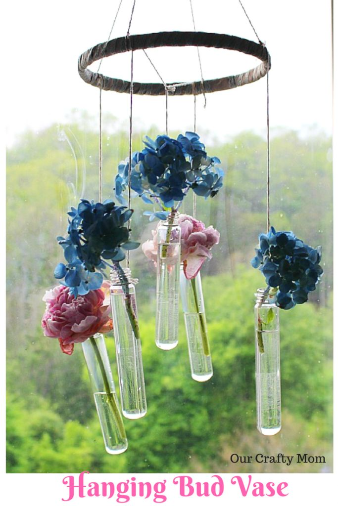 Hanging Bud Vase Wind Chime-Monthly Crafty De-Stash Our Crafty Mom