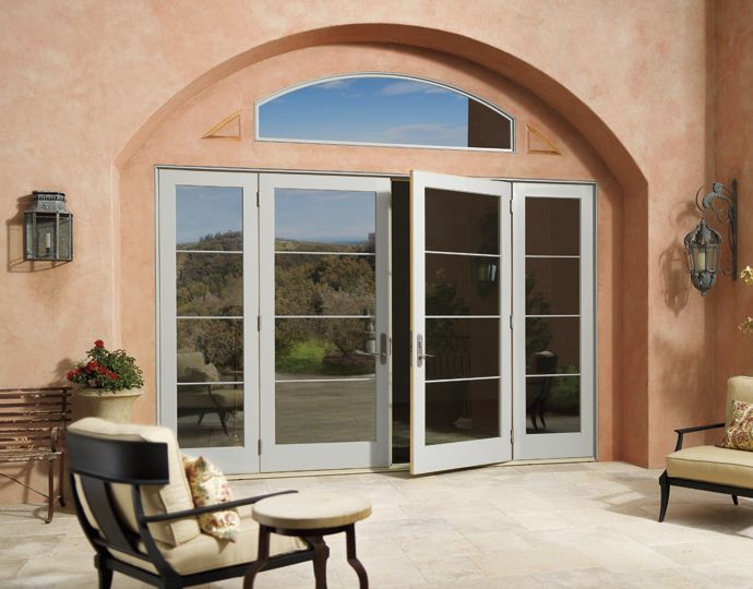 Photo from the Marvin Windows and Doors gallery.  Door options, but painted matte/metal black on outside