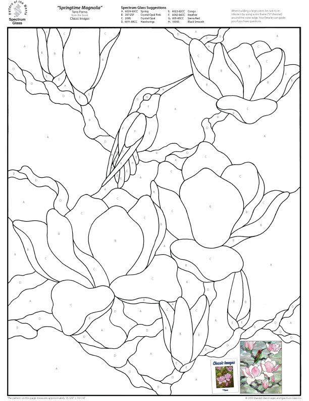 Stained Glass Patterns for FREE 008 Springtime Magnolia.jpg