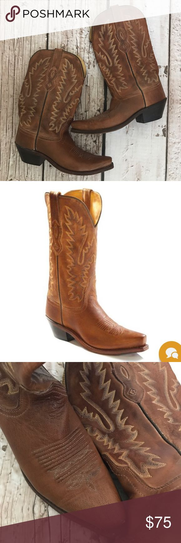 Old West Boots Old West women's western boots. Genuine leather. Gently worn a few times. Roughed up soles only to prevent slipping. Old West Shoes Heeled Boots