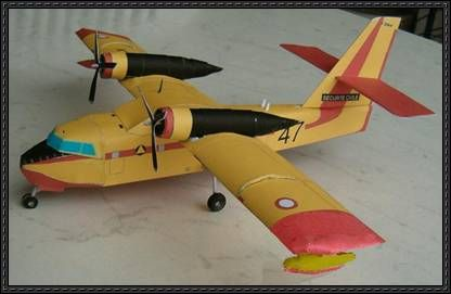 """Canadair CL-215 Water Bomber """"Scooper"""" free papercraft download"""