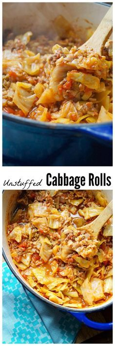 These Unstuffed Cabbage Rolls taste just like the real thing, but with a lot…