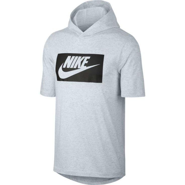 Nike Men's Sportswear Hooded T-Shirt, Size: Small, Birch Heather