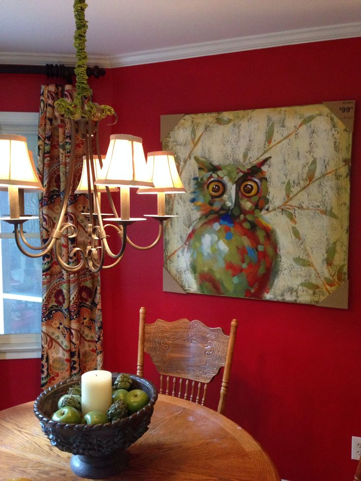 Vibrant Paisley Curtains And Owl Painting From Pier 1