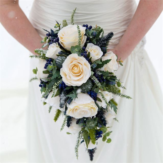Noreen's Wedding Bouquet Continued The Scottish Theme, As