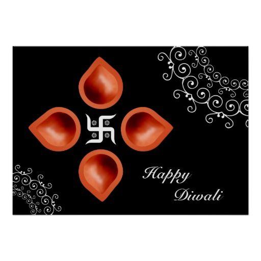 Diwali Lamps Decoration Print