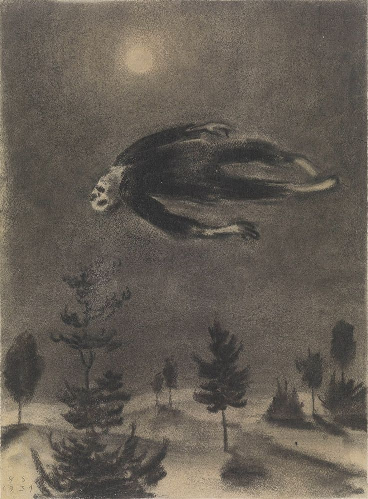 Franz Sedlacek, Ghost over the Trees, 1931 (via lunasabatica)
