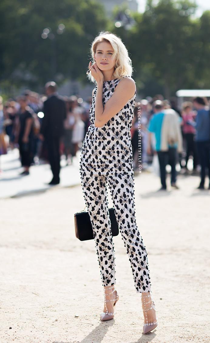 patterned pants matching separates