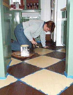 dyi painting hardwood floors