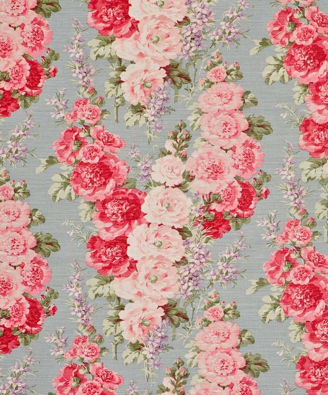 Hollyhocks .. Bennison Fabrics