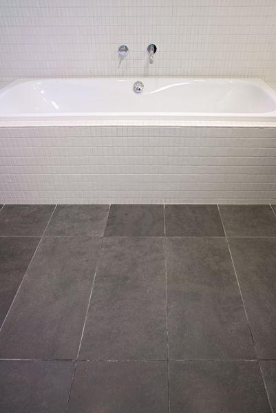 Minimalist bathroom featuring James Hardie Flooring -  Tile & Slate Underlay