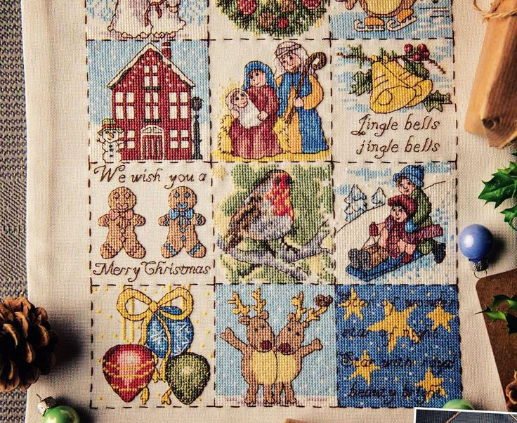 Festive Stitches - Available in Cross Stitcher Collection 295
