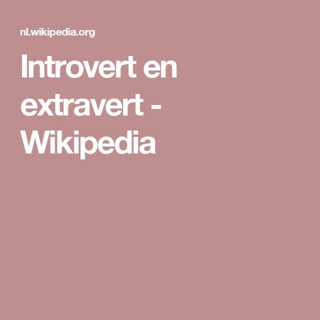 Introvert en extravert - Wikipedia