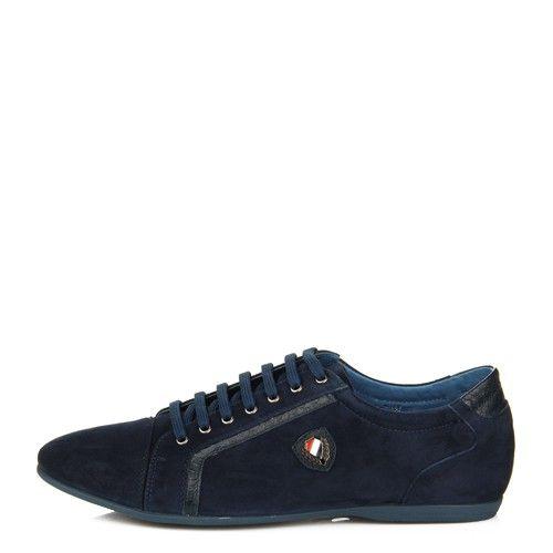 Спортивные мужские туфли Basconi синие натуральная замшевая кожа
