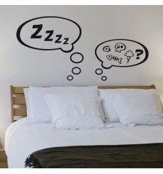 Sticker tête de lit ronflements BD | Fanastick.com