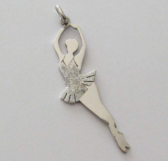 Ballerina Pendente Dancer Necklace Pendant - Ballerina Necklace - Ballet Dancer Silhouette - Ballet Jewelry - Silver 925 di Gioiellididonna su Etsy