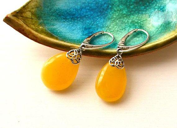 Amber Earrings Natural Amber Jewelry Baltic Amber Gift Egg
