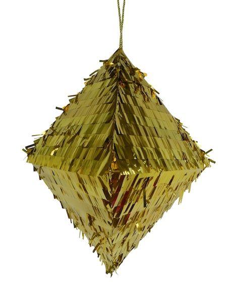 Gold diamond piñata.