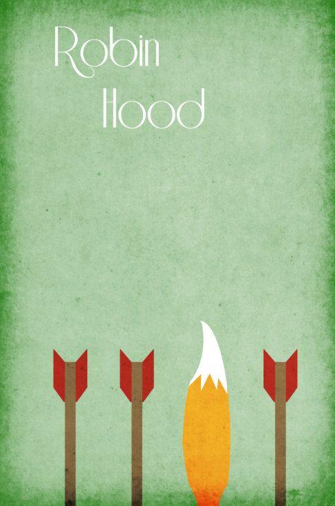 Disney Art Robin Hood Poster movie poster disney poster 11x17. $19.00, via Etsy.
