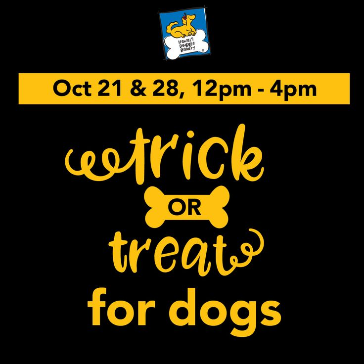 Trick or Treat for Dogs  Oct 21, 2017 and Oct 29, 2017