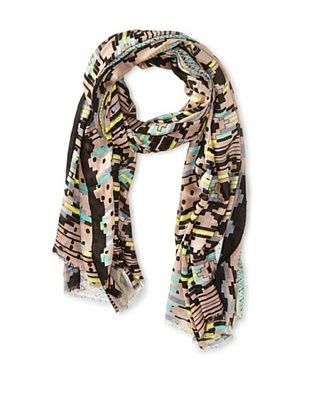 61% OFF RAFE NEW YORK Women's Aztec Geo Print Scarf, Grey/Black