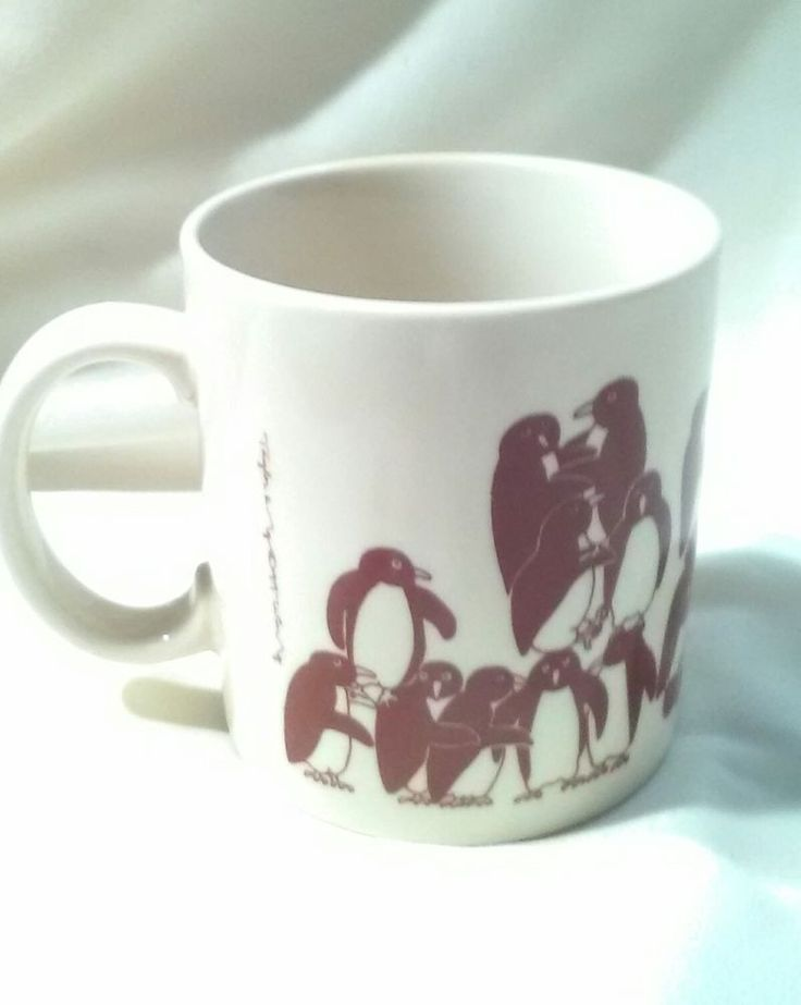 Vintage Taylor & Ng Penguin Orgy Party Coffee Cup Japan 1979 #TaylorNg