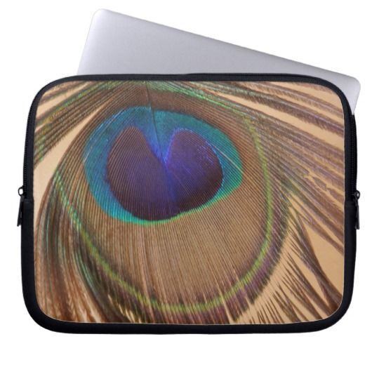 #zazzl3 #Peacock #Feather #Neoprene #Laptop #Sleeve #10 inch #office #home #travel #gift #giftidea