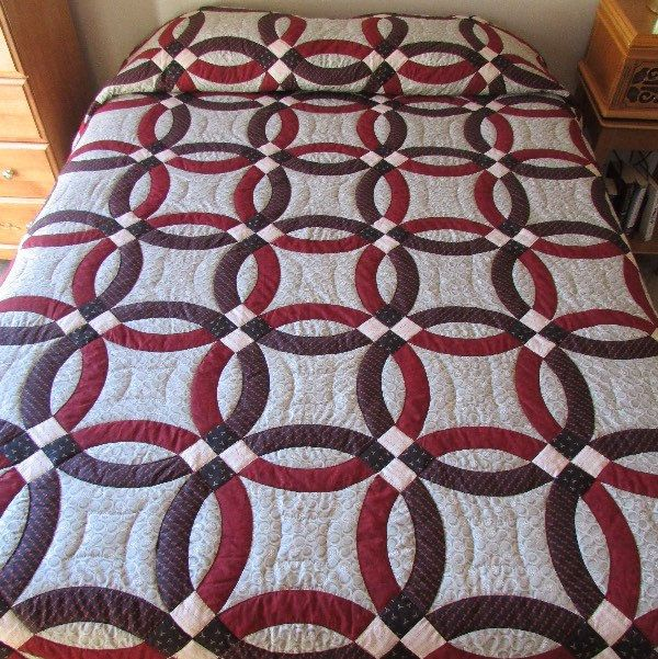 Wedding ring quilts for sale king size