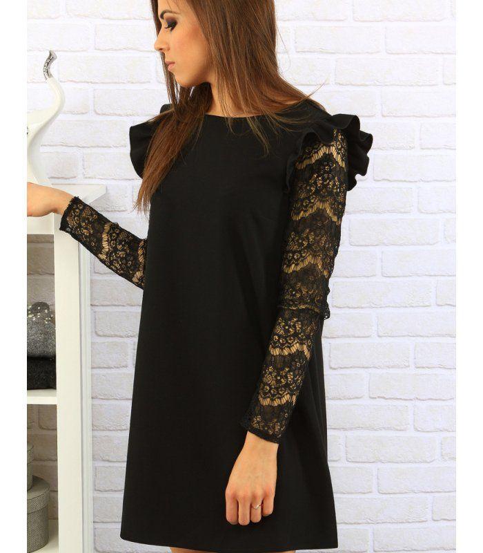 dedbd083dfac Čierne šaty s volánikmi