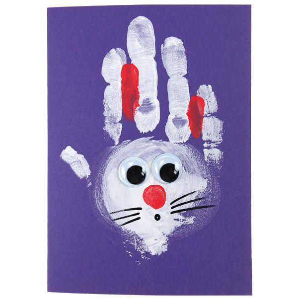 Pikkukätösistä saa hauskoja pupuja sormivärien avulla. Tarvikkeet ja ideat Sinellistä!