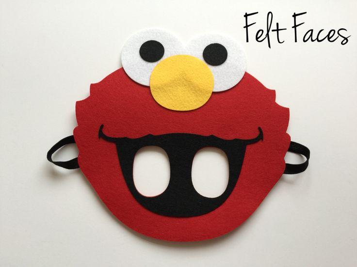 Elmo Party Mask, Elmo Party Favors, Elmo Party Decorations, Elmo Party Supplies