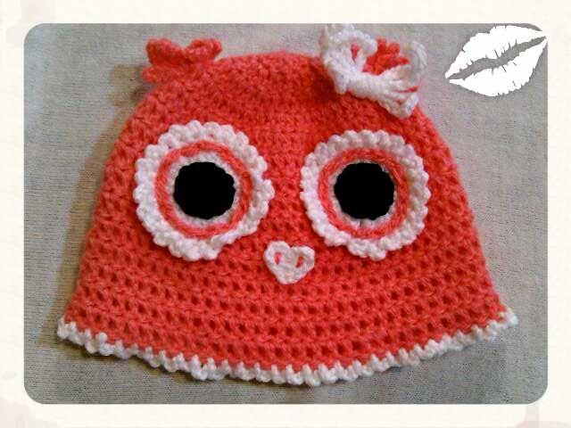 crochet gorro buho #talyhechoamano   https://www.facebook.com/Talyhechoamano/?ref=nf