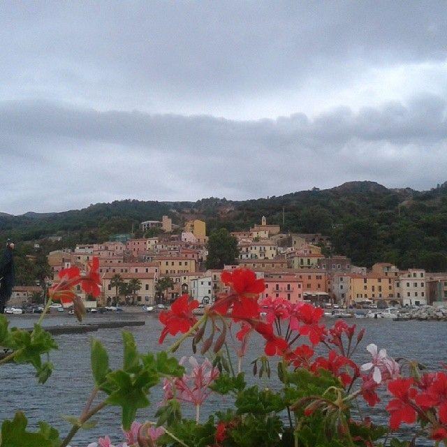 #ShareIG #RioMarina il paese dell' #isoladelba nella pancia della #miniera- veduta dal #porto.  #mines #mine #isolaelba #tuscany #tuscanygram #elbadascoprire #elba200 #Napoleone #Napoleon #mare #sea #Ilikeitaly #IloveElba #morning